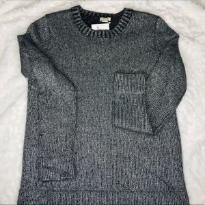 J Crew Lurex Wool Blend Crew Metallic Sweater